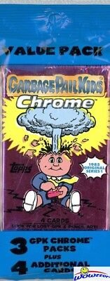 2013 Topps Chrome Garbage Pail Kids EXCLUSIVE Value Rack Pack-ATOMIC REFRACTORS