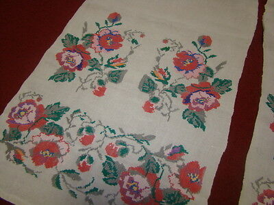 Vintage Ukrainian embroidered  rushnyk  Cherkasy  region #645-