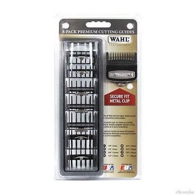 Wahl Professional Cutting Hair Clipper Premium Guides Caddy Combs Guards 8 Pack