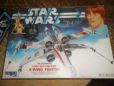 MPC Star Wars Luke Skywalker X-Wing Fighter Model Unstarted in Box