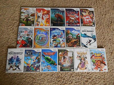 Nintendo Wii Disney Games! You Choose from Large Selection! Many Titles!
