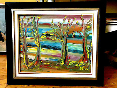 "Canadian Art Original Framed Oil Painting Alban Bluteau 16""X20"" : Paysage"