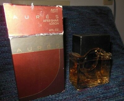 Vintage AVON AURES After Shave Lotion Large 4 Oz Splash with Box NOS Discontinue