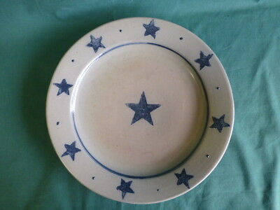 Rowe Pottery Works Cambridge Wisconsin Stoneware Star Plate