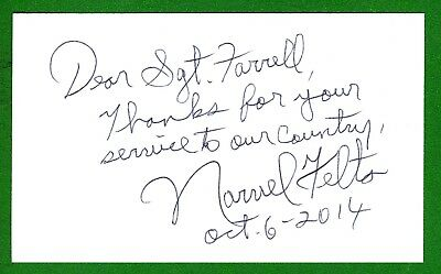 Narvel Felts Country Music Singer Signed 3x5 Index Card T1660