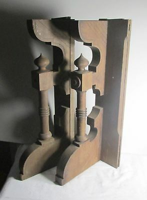 2 antique vintage  walnut wood corbels architectural salvage