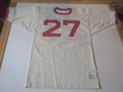 1960-70's VINTAGE #27 CHAMPION BRAND FOOTBALL JERSEY-MD CHIEFS PATRIOTS GIANTS