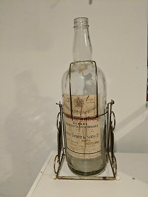 Vintage Dewar's White Label Blended Scotch Whisky Large Bottle w/Swing Cradle