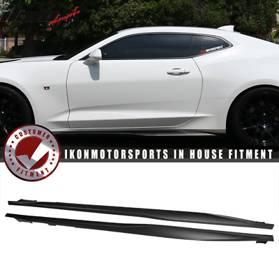Fits 16-19 Chevrolet Camaro ZL1 Style Side Skirts ABS Pair Matte Black