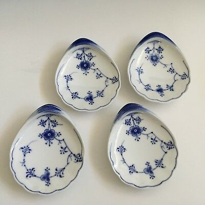 4 Bing Grohndal Denmark Shell Shaped Oval Butter Pats