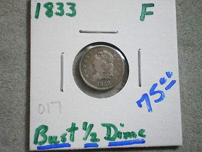 1833 Capped Bust Half Dime/ Special Price-Merry Christmas, Free Shipping........