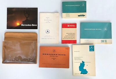 Full Set Mercedes Benz 280 SL Owner Manuals with Pouch, Becker Radio Manual, etc