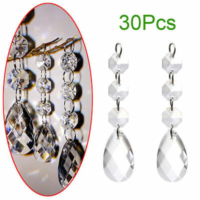 10/30pc Clear Christmas Acrylic Crystal Xmas Tree Decoration Ball Ornaments Gift