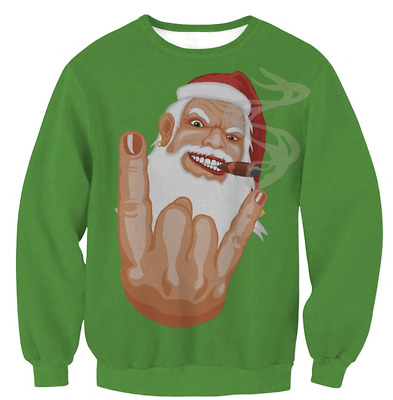 Mens Womens UGLY Christmas Sweater Top