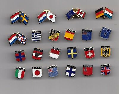 Enamel FLAG pin badges (butterfly back) Country National