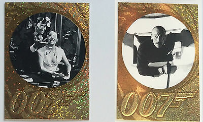 James Bond - 50th Ann. Sparkle Foil Parallel S2- 5x Auswahl - Lazenby, Dalton...
