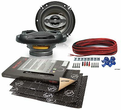 Upgrade Speaker 6 1/2in Coax for VW T5 03-08 Front + Stp Insulation