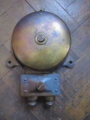 Vintage Fire Alarm/gong Bell Made By Alfred Graham & Co London 1912