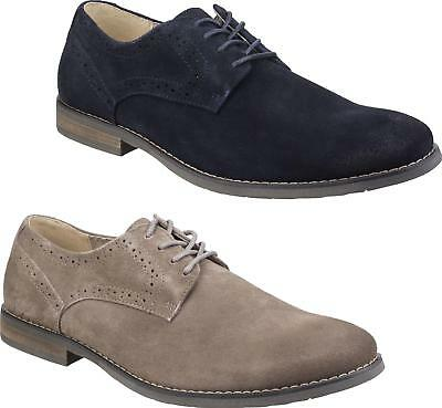 Hush Puppies SEAN CASUAL Mens Lace Up Smart Office Derby Shoes Camel/Navy