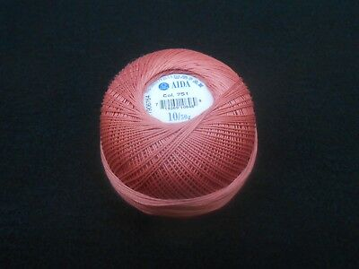 Size 10 Colour Light Blue Number 128 Coats Aida Crochet Cotton Thread 50g
