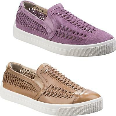 Hush Puppies GABBIE WOVEN Ladies Womens Slip On Low Casual Trainers Shoes