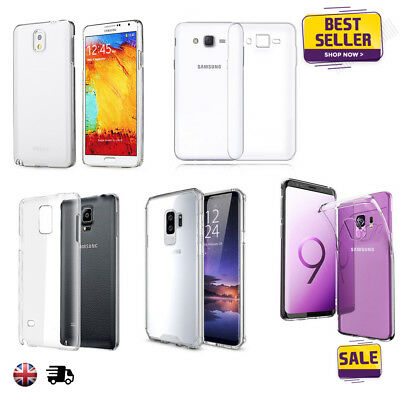 TPU Silicone Gel Soft Clear Slim Transparent Case Cover For Samsung Phones