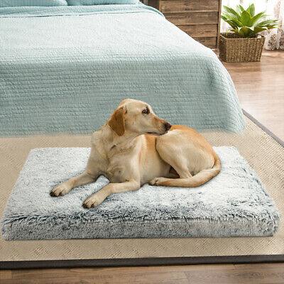 LOSY PET Dog Bed Pet Lounger Deluxe Cushion for Crate Foam Soft - Large M L XL