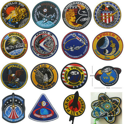 NASA badges patches APOLLO armband army Hook Embroidery Patch