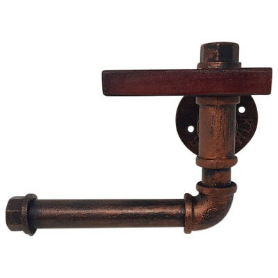 Industrial Style Toilet Roll Holder, Rustic Style Toilet Paper Roll Holder