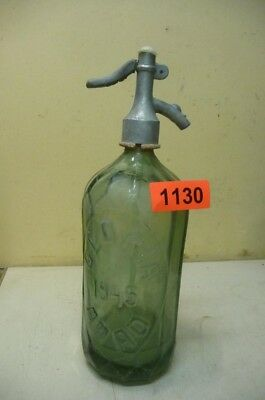 1130.  Alte Sodaflasche  Siphonflasche 1 L  1945  Old Soda Siphon