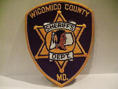 police patch  WICOMICO COUNTY SHERIFF'S OFFICE MARYLAND   THICK LETTERS
