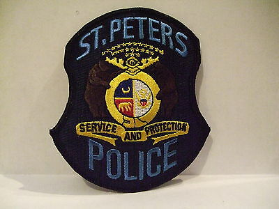 police patch  ST PETERS POLICE MISSOURI