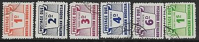 Northern Rhodesia Sgd5/10 1963 Postage Due Set Used