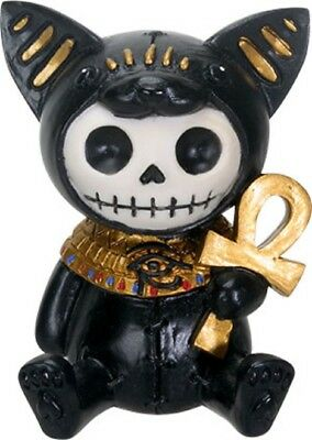 Furrybones Figurine- Bastet The Ancient Egyptian - New Skull Skeleton In Costume