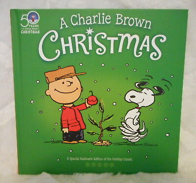 Hallmark A Charlie Brown Christmas 50Th Anniversary Hardcover Book New