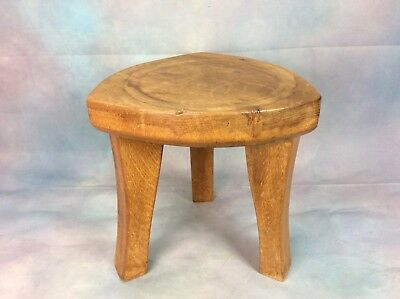 Arts & Crafts Oak 3 Legged Stool / Milking Stool, Nicely Shaped