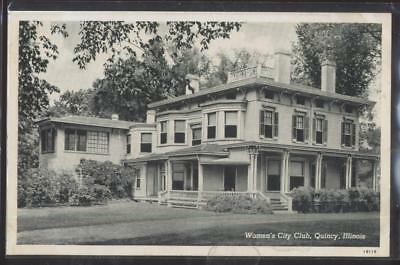 Postcard QUINCY Illinois/IL  Early 1900's Local Women's City Club House 1930's