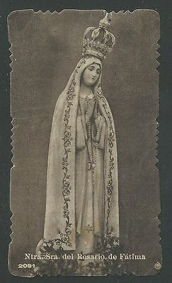 Estampa antigua de la Virgen de Fatima santino holy card image pieuse