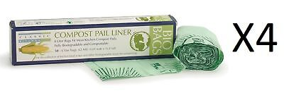 RSVP 100% Biodegradable Compostable Liners/Bags 50 Pack 6 L GMO Free (4-Pack)