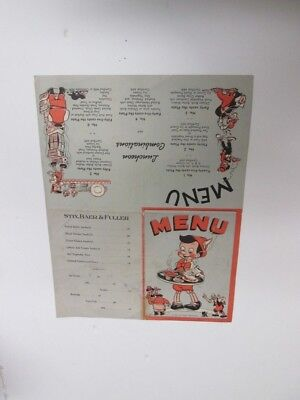 DISNEY-PINOCCHIO-1939 Store menu Advertising promo. VERY RARE