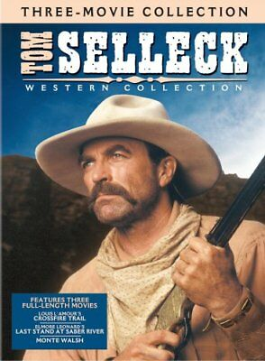 TOM SELLECK WESTERN COLLECTION New 3 DVD Monte Walsh Saber River Crossfire Trail