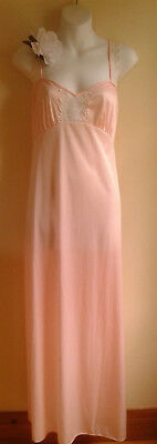 Vintage Nightgown Van Raalte Canada barely there pink 36""