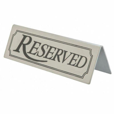Reserved Sign Stainless Steel Metal Table Tent Type Notice Bar Restaurant Signs