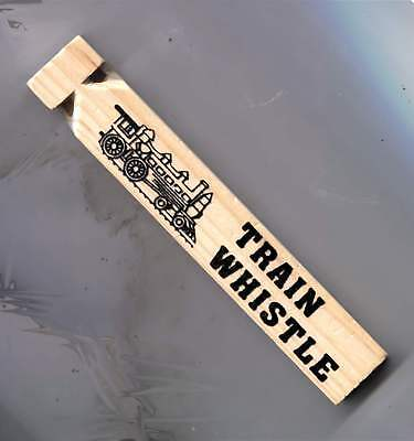 Wooden Railroad Train Whistle - FREE Shipping - Quantity Discounts