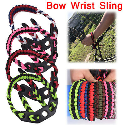 Archery Bow Wrist Sling Strap Braided Compound Bow Adjustable Paracord Colorful