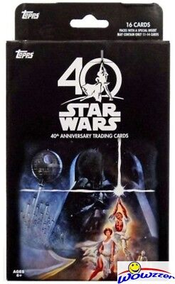 2017 Topps Star Wars 40th Anniversary EXCLUSIVE Factory Sealed Hanger Box