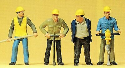 Railway Construction Workers Preiser 63065 Figurines Track I Scale 1:3 2 Ovp