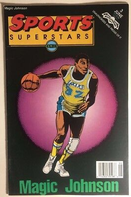 SPORTS SUPERSTARS #3 Magic Johnson (1992) Revolutionary Comics FINE