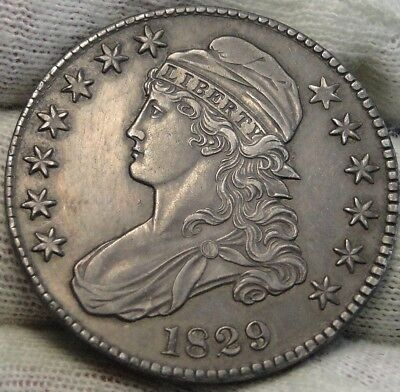 1829 Capped Bust Half Dollar - 50 Cents, Very Nice Coin, Free Shipping  (7738)