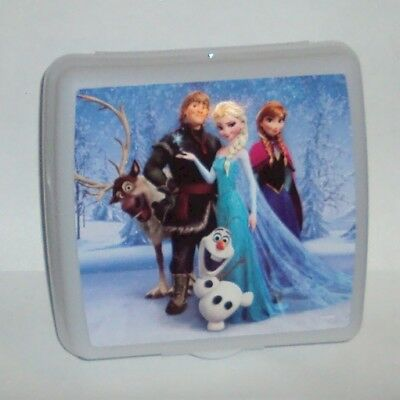 Tupperware Lunch Box Sandwich Keeper Walt Disney Frozen Else Anna Olaf